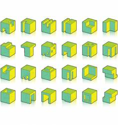 Set of modified cubes vector