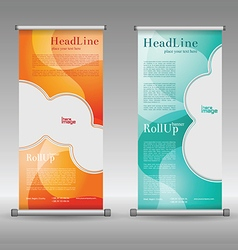 Mega collection of roll up banners design vector