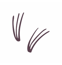 False eyelashes icon cartoon style vector