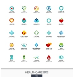 Abstract logo set for business company Healthcare vector image
