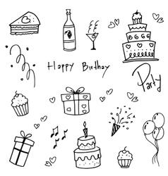 Birthday doodle fot kids vector