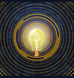 Bitcoin cryptocurrency high vector
