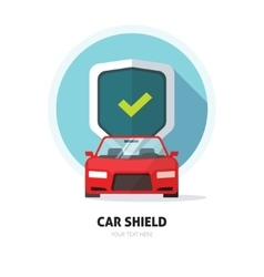 Car guard shield sign collision insurance logo vector