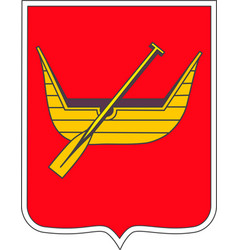 Coat of arms of lodz poland vector