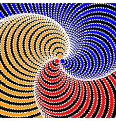 Design colorful twirl circular movement background vector