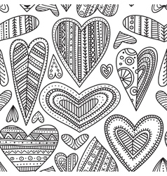 Ethnic hearts seamless pattern vector