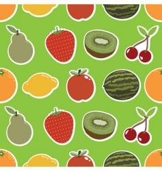 fruit wallpaper vector image vector image