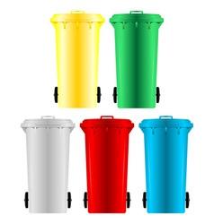 Garbage bins vector image vector image