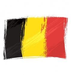grunge Belgium flag vector image vector image
