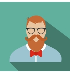 Hipster flat character vector image