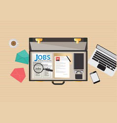 Job search icon design vector