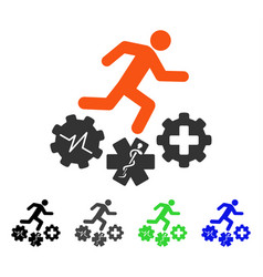 Running patient flat icon vector
