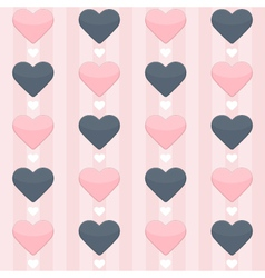 Seamless pattern with blue and pink hearts on a vector image vector image
