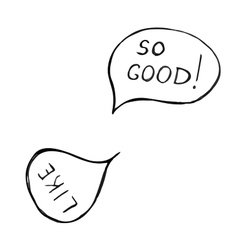 Set of doodle speech bubble on white background vector image