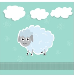 Sheep and clouds cute vector image vector image