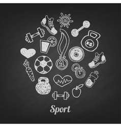 Sport set icons vector