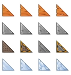 Triangular blocks for physics game 1 vector