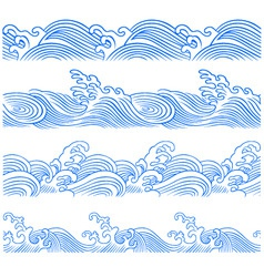 wave borders vector image vector image