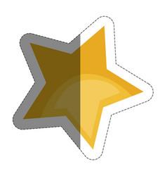 Yellow star icon vector