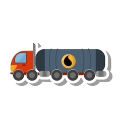 Oil tanker truck transport vector