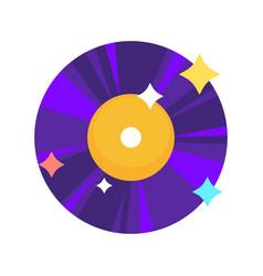 Bright shiny vinyl record vector