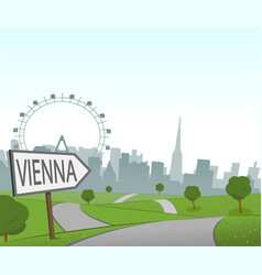 road to vienna vector image