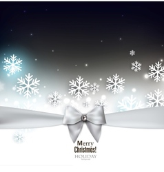 Holiday banner with ribbons background vector image