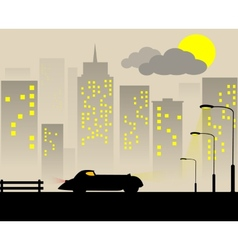 Retro city vector