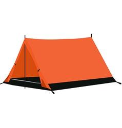 Camping tent orange vector