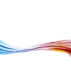 Modern blue to red swoosh wave border abstract vector image