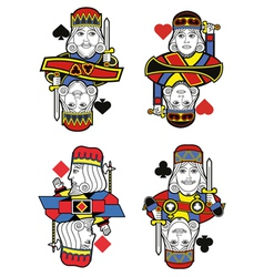 Four kings no cards vector