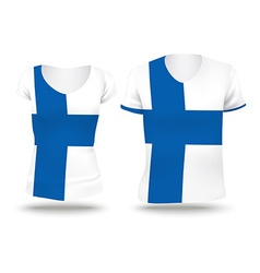 Flag shirt design of finland vector