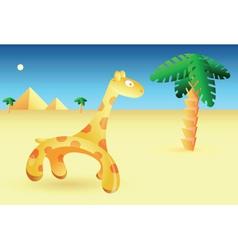 egyptian giraffe vector image