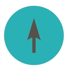 Arrow axis y flat grey and cyan colors round vector