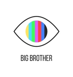 Big brother is watching you from tv vector