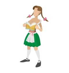 St patricks day girl cartoon icon vector