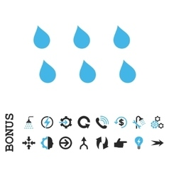 Drops flat icon with bonus vector