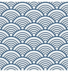Blue White Traditional Wave Japanese Chinese vector image