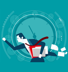 Businessman in a hurry time concept business vector