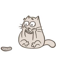 Cat and rabid cucumber vector