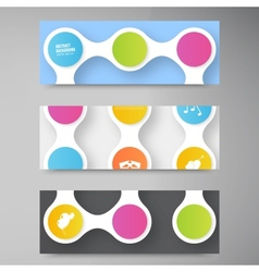 color circles infographic Color vector image vector image