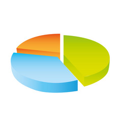 colorful silhouette circular statistics charts vector image vector image