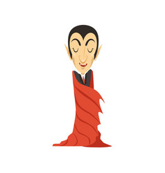 Count dracula vampire wrapped in a cloak vector