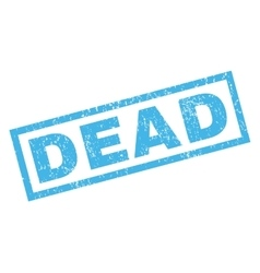 Dead Rubber Stamp vector image