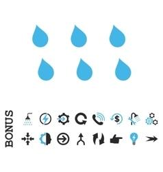 Drops Flat Icon With Bonus vector image