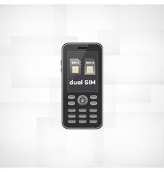 Dual sim phone vector