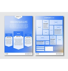 Flyer design with blurred background vector