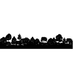 forest trees silhouettes natural wild landscape vector image vector image