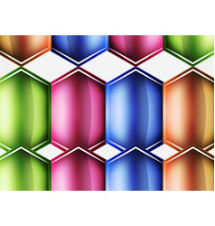 glossy glass shapes abstract background vector image vector image