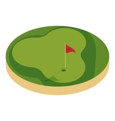 Golf course icon cartoon style vector image